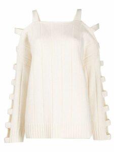 McQ Alexander McQueen cutout sleeve sweater - White