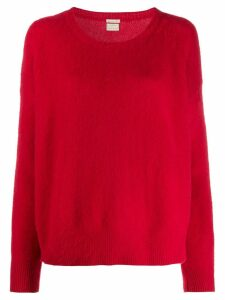 Massimo Alba draped cashmere jumper - Red