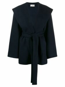 The Row belted wrap coat - Blue