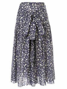 Sara Lanzi tie-fastening wrap skirt - Blue