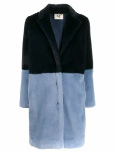 Semicouture faux fur coat - Blue