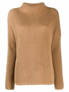 Liu Jo stand up collar jumper - Brown