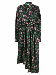 Christian Wijnants dani floral shirt-dress - Black