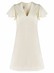 Giambattista Valli studded v-neck dress - Neutrals