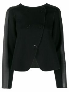 Emporio Armani panelled double-breasted coat - Black