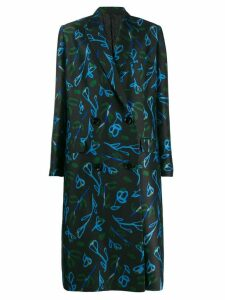 Christian Wijnants floral print coat - Black
