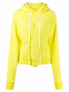 Unravel Project long drawstring hoodie - Yellow
