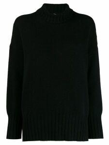 Massimo Alba oversized high-neck jumper - Black