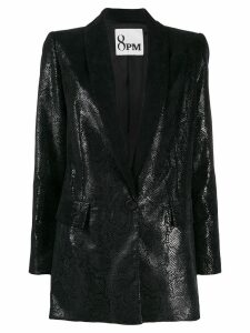 8pm snakeskin-effect faux leather blazer - Black