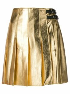 MSGM A-line pleated skirt - GOLD