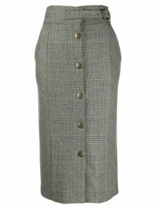 Twin-Set checked pencil skirt - Grey
