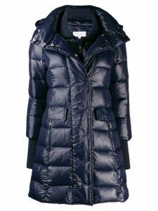 Patrizia Pepe longline puffer jacket - Blue