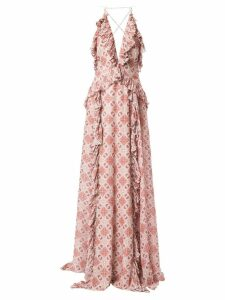 Jonathan Simkhai pleated ruffle details dress - Pink