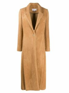 Patrizia Pepe longline single-breasted coat - Brown