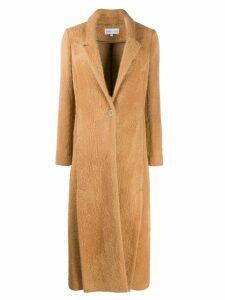 Patrizia Pepe longline single-breasted coat - Brown