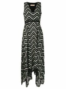 Twin-Set zig zag print midi dress - Black