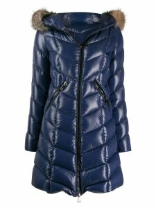 Moncler Fulmarus quilted zip-up coat - Blue
