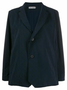 Issey Miyake geometric single-breasted blazer - Blue