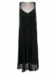 Nº21 sheer overlay dress - Black