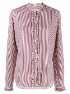 Massimo Alba striped collarless shirt - Pink