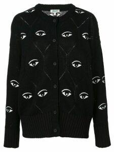 Kenzo eye motif cardigan - Black