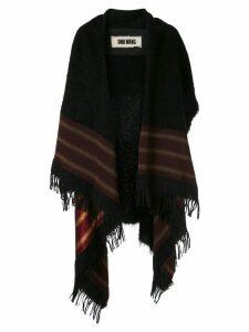 Uma Wang fringed oversized coat - Black