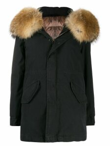 Mr & Mrs Italy fur-hood parka coat - Black