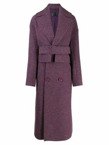 Christian Wijnants belted coat - Purple