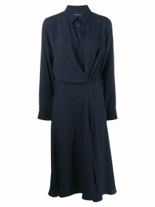 Cédric Charlier shirt midi dress - Blue