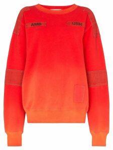 Ambush bleach patchwork sweatshirt - Orange