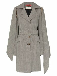 Ronald Van Der Kemp collared trench coat - Black