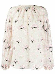 Giambattista Valli floral embroidery blouse - Neutrals
