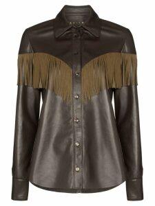 Skiim Lenny fringe detail shirt - Brown