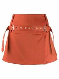 Marques'Almeida belt detail skirt - ORANGE