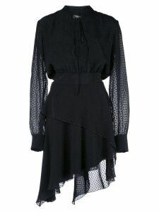 Amiri asymmetric dotted dress - Black