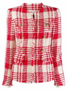 Escada button-embellished tweed jacket - Red
