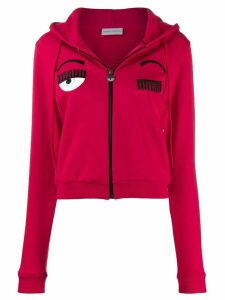Chiara Ferragni Flirting zipped hoodie - Red