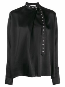 Marques'Almeida adjustable neck blouse - Black