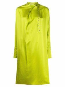 Marques'Almeida adjustable neck dress - Green