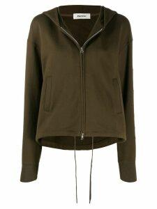 Zucca hooded zipped jacket - Green
