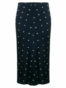 Joseph Frances Scribble Spot skirt - Blue
