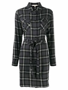 Gold Hawk plaid print dress - Grey