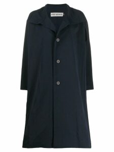 Issey Miyake flared single-breasted coat - Blue