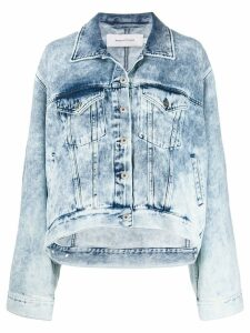 Marques'Almeida bleached denim jacket - Blue