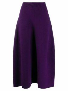 Christian Wijnants knitted wool skirt - Purple