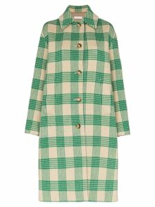 Rejina Pyo checked oversized coat - Green