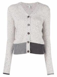 Autumn Cashmere colour blocked cardigan - Neutrals