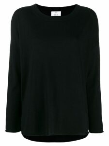 Allude colour block knitted top - Black