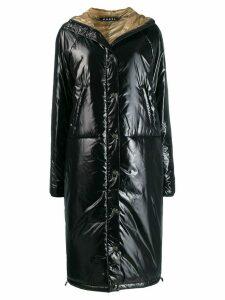 Kassl shine effect puffer coat - Black