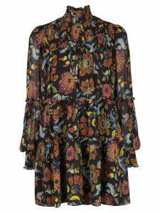 Cinq A Sept Rika floral print dress - Black